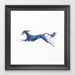 The Blue Saluki Framed Art Print