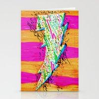 lightning Stationery Cards featuring Lightning by Hugo Diaz Romero