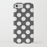 polka dots iPhone & iPod Cases featuring Polka Dots by NobuDesign