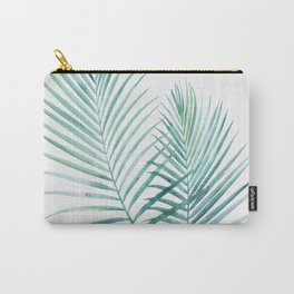Twin Palm Fronds - Teal Carry-All Pouch