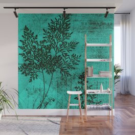 Botanical Turquoise Wall Mural