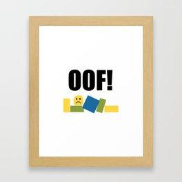 Roblox Oof Framed Art Print
