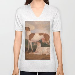 oil paintings of greyhounds Unisex V-Neck
