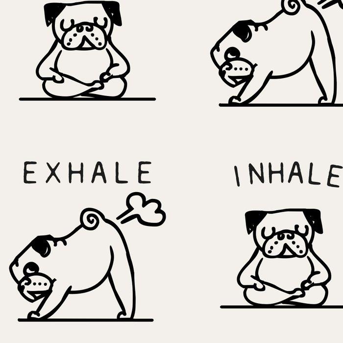 Inhale Exhale Pug Leggings