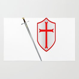 Crusaders Sword and Shield Rug