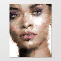 rihanna Canvas Prints featuring Rihanna by Dnzsea