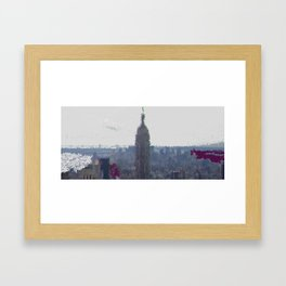 Sky city Framed Art Print
