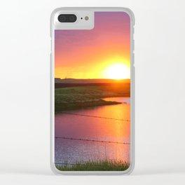 North Dakota Sunset Clear iPhone Case