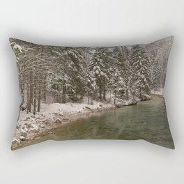 Picturesque Triglavska Bistrica River Rectangular Pillow