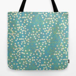 Dots and Rings-Blue Tote Bag