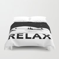 relax Duvet Covers featuring Relax by notalkingplz