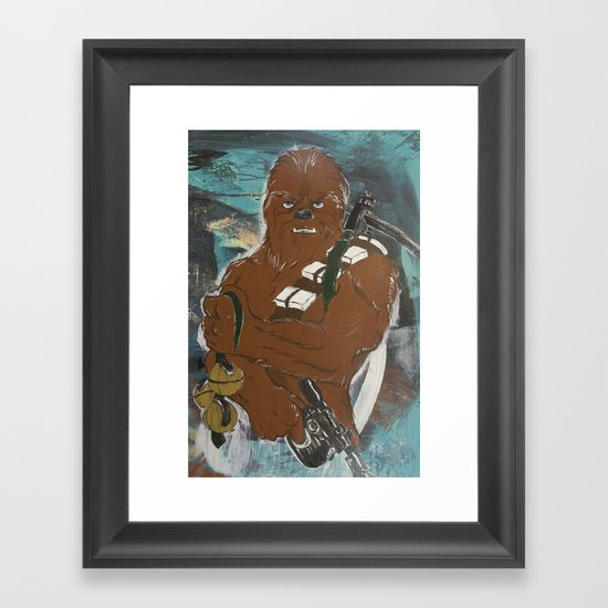 Lock and Load Chewie Framed Art Print