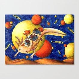 Axolotl Village Canvas Print