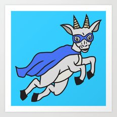 The Mighty Flash Goat Art Print