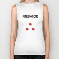 predator Biker Tanks featuring Predator  by NotThatMikeMyers