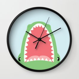 croc attack Wall Clock