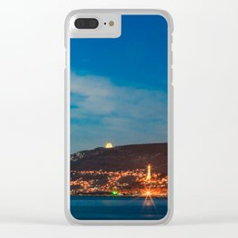 Colorful sunset in front of the city of Trieste Clear iPhone Case