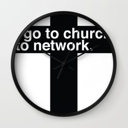 Church is for Networking Wall Clock