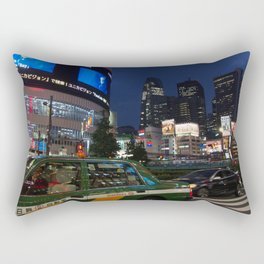 Night time Shinjuku 1 Rectangular Pillow