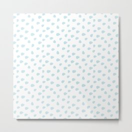 Baby Blue Seamless Pattern Paint Brush Strokes Metal Print