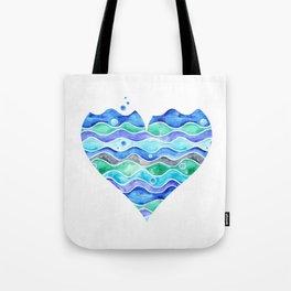 A Sea of Love (white) Tote Bag