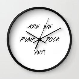 Punk Rock Wall Clock
