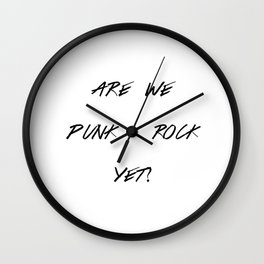 Punk Rock Wall Clock