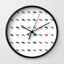 Take your umbrella ! It's raining! Wall Clock