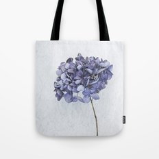 Dried Blue Hydrangea Tote Bag