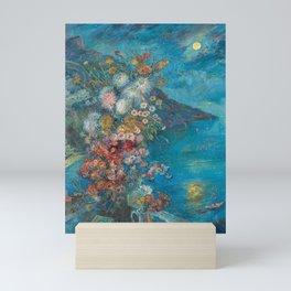 Amalfi Coast, Italy - Italian Riviera seascape nautical landscape painting by David Burliuk Mini Art Print