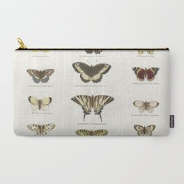 Vintage Butterfly Chart Carry-All Pouch