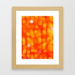 Orange Disco Fever Framed Art Print