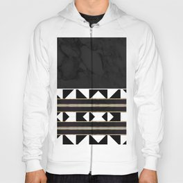 Black and White Marble Tile Abstract Hoody