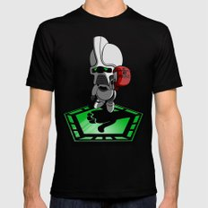 The Hitchhikers Guide to the Galactica Black Mens Fitted Tee X-LARGE