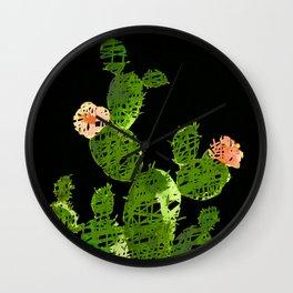 weird cactus black version Wall Clock