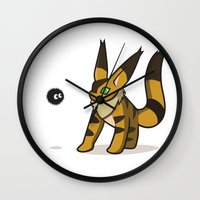 nausicaa Wall Clocks featuring Teto meets Soot sprite by KickPunch