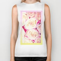 gradient Biker Tanks featuring Gradient Roses by Cecilie Karoline