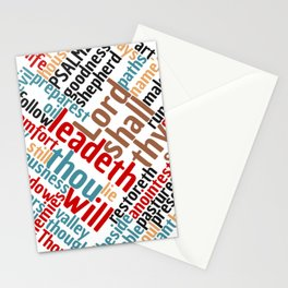 Psalm 23 Word Art Stationery Cards