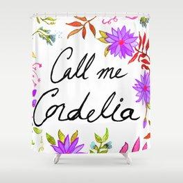 Call Me Cordelia - Purple Flowers Shower Curtain