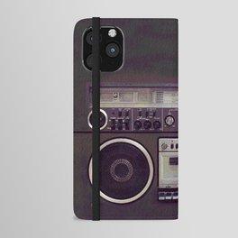 Retro Boombox iPhone Wallet Case