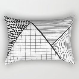 Abstract patterns in triangles monochrome Rectangular Pillow
