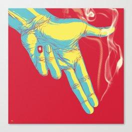 Rock, Paper, Scissors... Gun Always Wins Canvas Print