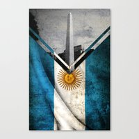 argentina Canvas Prints featuring Flags - Argentina by Ale Ibanez