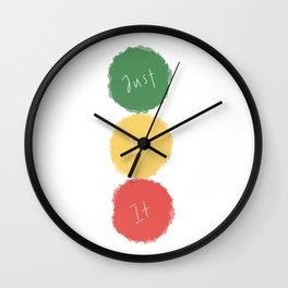 Three, two, one Wall Clock