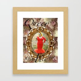 Queer as in Fuck You - Divine Framed Art Print