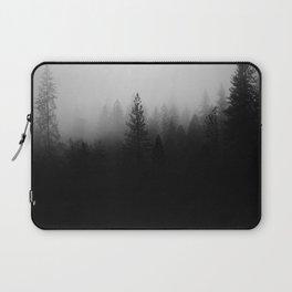 Black&White Woods Print Laptop Sleeve