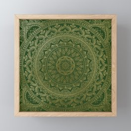 Mandala Royal - Green and Gold Framed Mini Art Print
