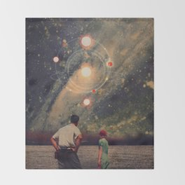 Light Explosions In Our Sky Throw Blanket
