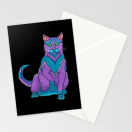 Indigo Purr Stationery Cards