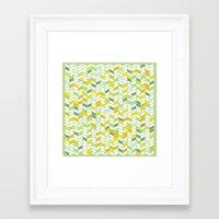 herringbone Framed Art Prints featuring Herringbone by Jaybeak